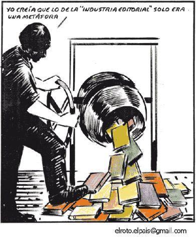 Meme de humor sobre la industria editorial