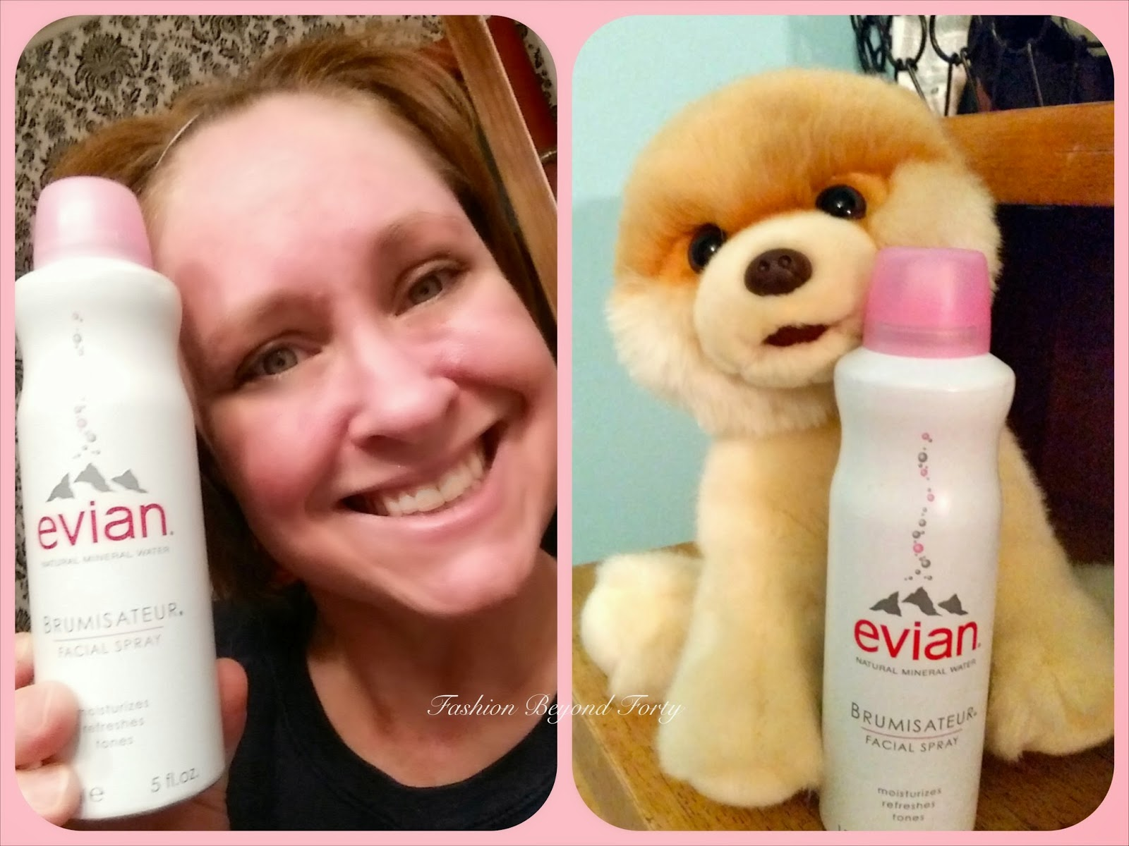 Evian Facial Spray Review on Fashion Beyond Forty