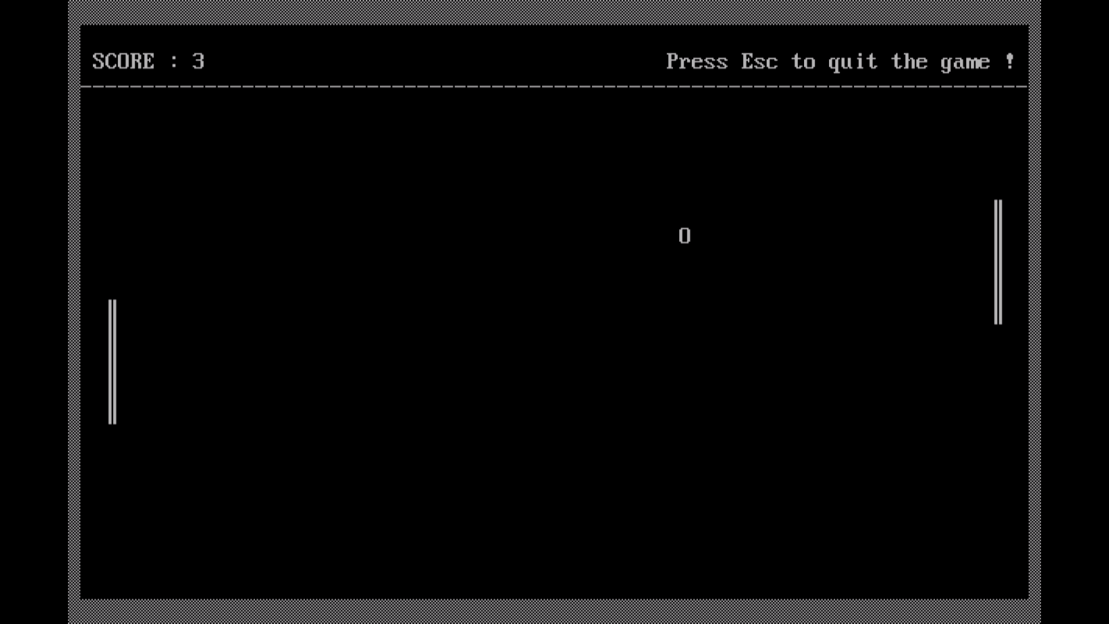 PONG GAME IN TURBO C++