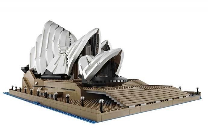 sydney opera house lego model