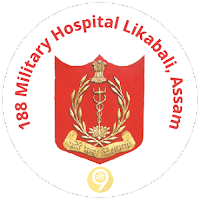 188_Military_Hospital_Likabali_Assam_logo