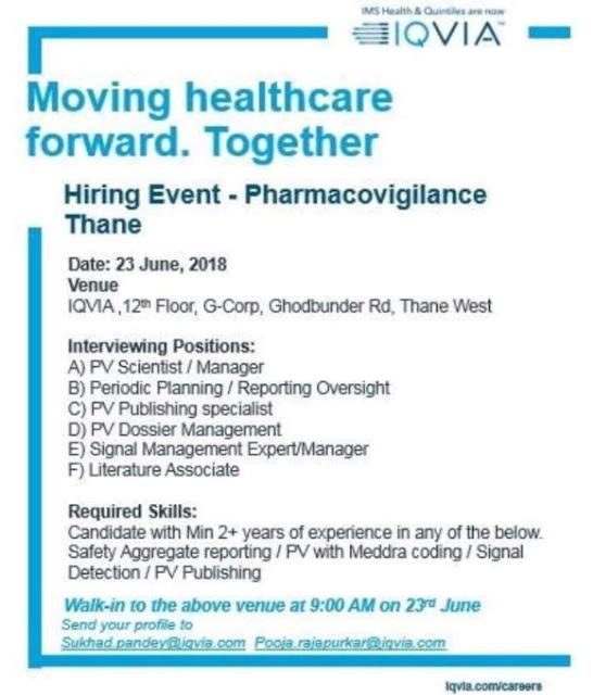 Pharmacovigilance job at IQVIA