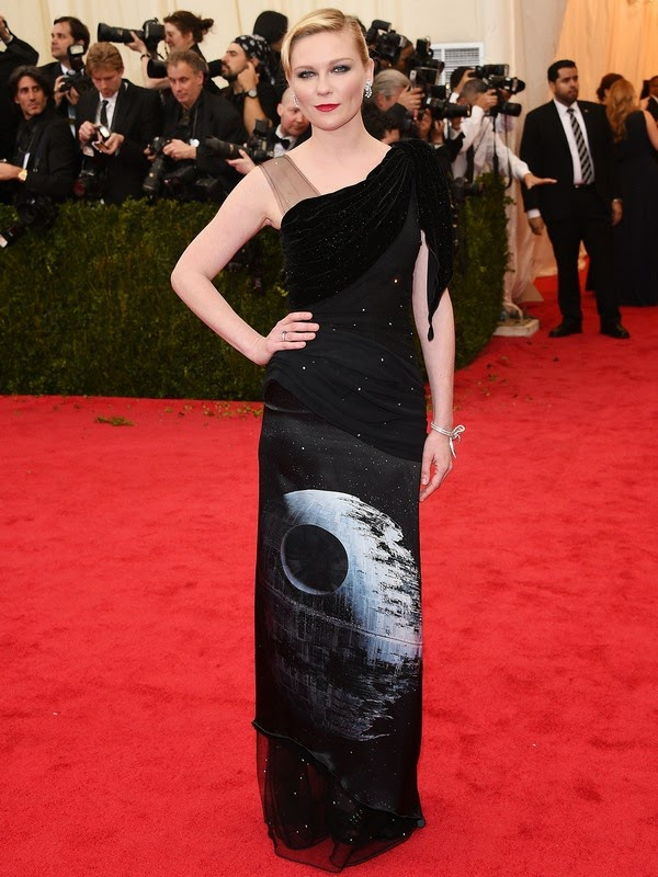 Kirsten Dunst wearing Death Star dress