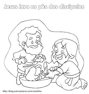 Resultado de imagem para jesus veio para servir desenho para colorir