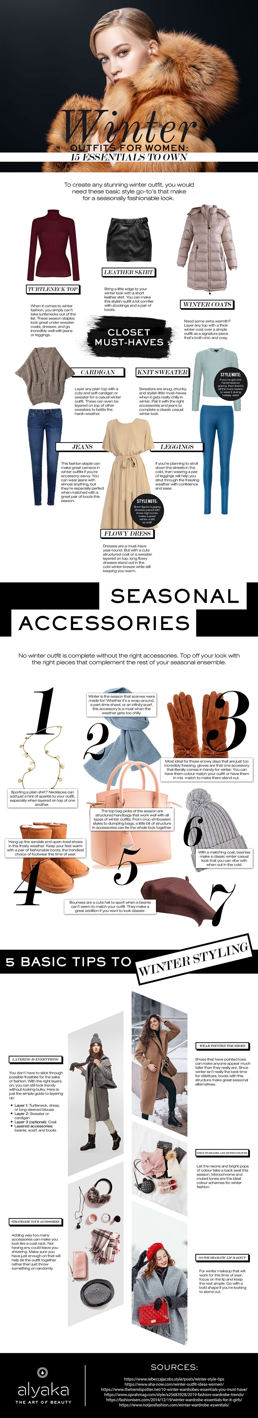 15 Fashion Essentials to Complete Your Winter Outfit #infographic