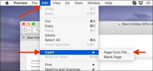 طريقة دمج ملفات PDF بدون برامج