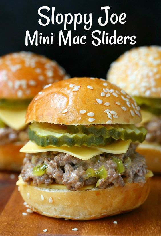 Sloppy Joe Mini Mac Sliders are calling my name! Any Big Mac fan out there needs to try this beef slider recipe for a fun dinner at home!
