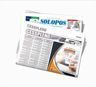 pasang iklan les privat di koran Solopos