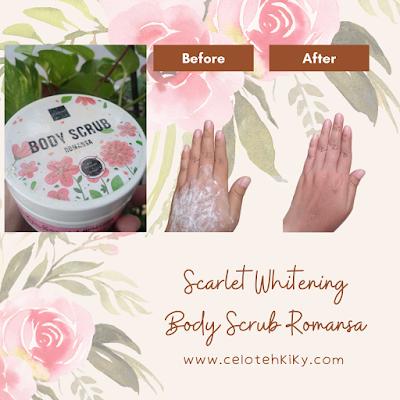 Scarlet whitening body scrub