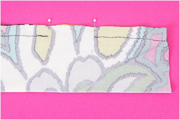 kumaştan bandana yapımı