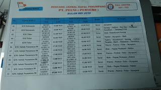 Rencana Jadwal Kapal Penumpang PT.Pelni Mei 2019
