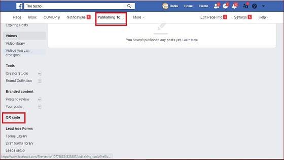 Facebook page ke liye qr code kaise banaye
