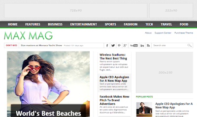 Max Mag Responsive Magazine and Multimedia Blogger Template
