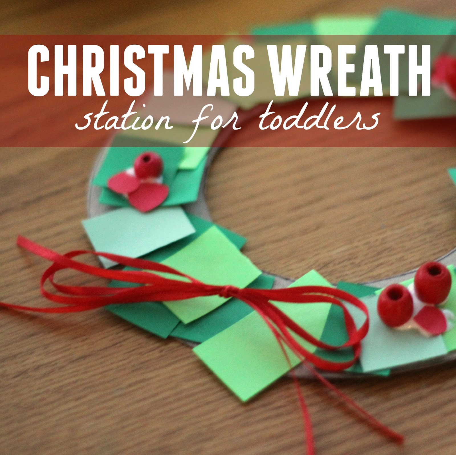 Paper Christmas Wreath Ideas.Toddler Approved Toddler Christmas Wreath Making Station