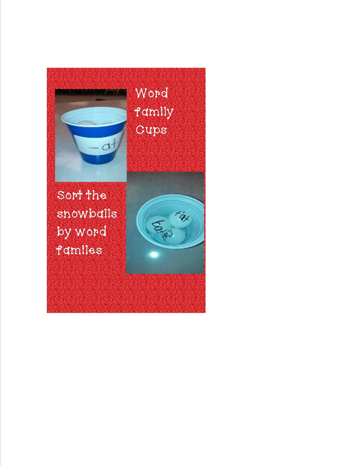 Mrs Bohaty S Kindergarten Kingdom Cups Cups And More Cups