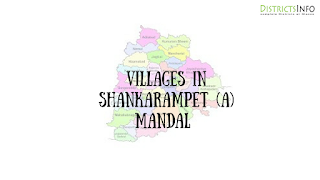Shankarampet (A) Mandal with villages