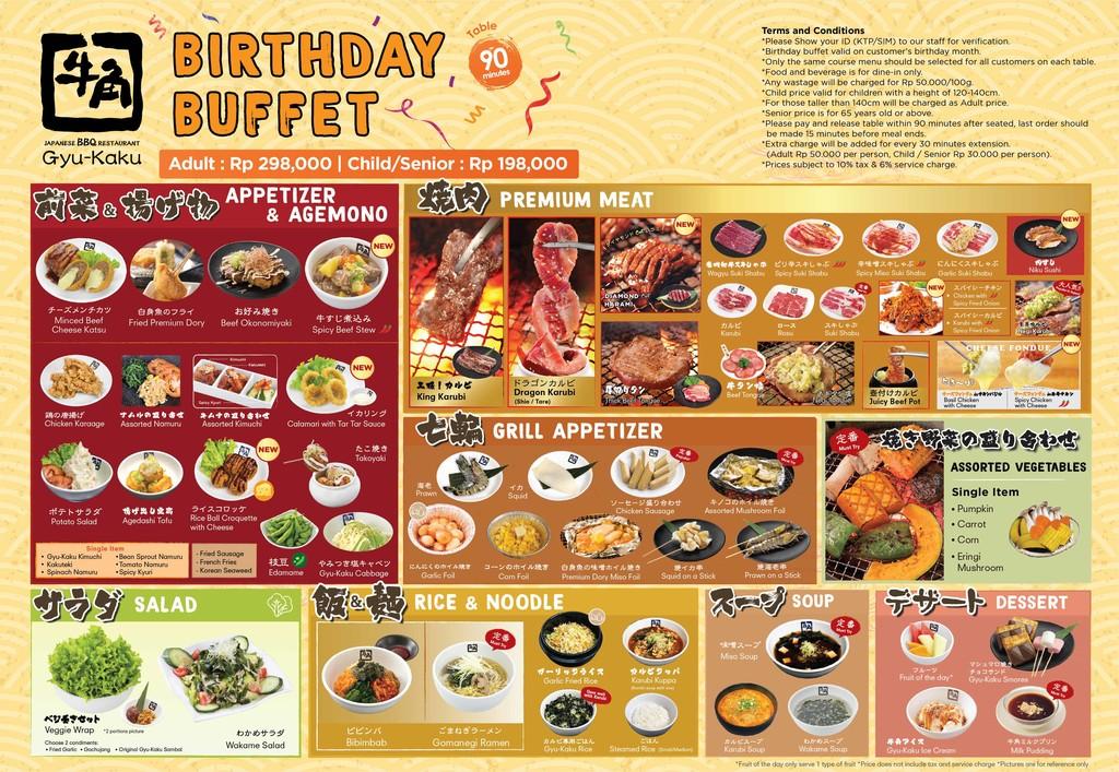 buffet birthday menu gyu kaku