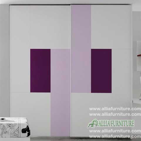 lemari pakaian 2 pintu minimalis liniear