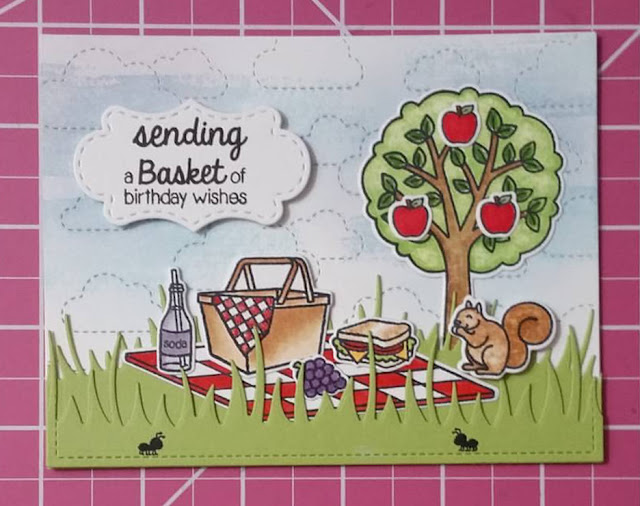 Sunny Studio Stamps: Summer Picnic card by Monica Alcazar