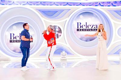 Beto Barbosa, Sérgio e Eliana - Foto: Gabriel Cardoso/SBT