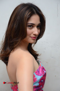 Actress Tamanna Latest Images in Floral Short Dress at Okkadochadu Movie Promotions  0135.JPG