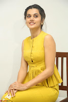 Taapsee Pannu looks mesmerizing in Yellow for her Telugu Movie Anando hma motion poster launch ~  Exclusive 001.JPG