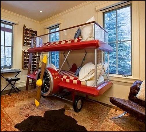 Dormitorio temático aviones
