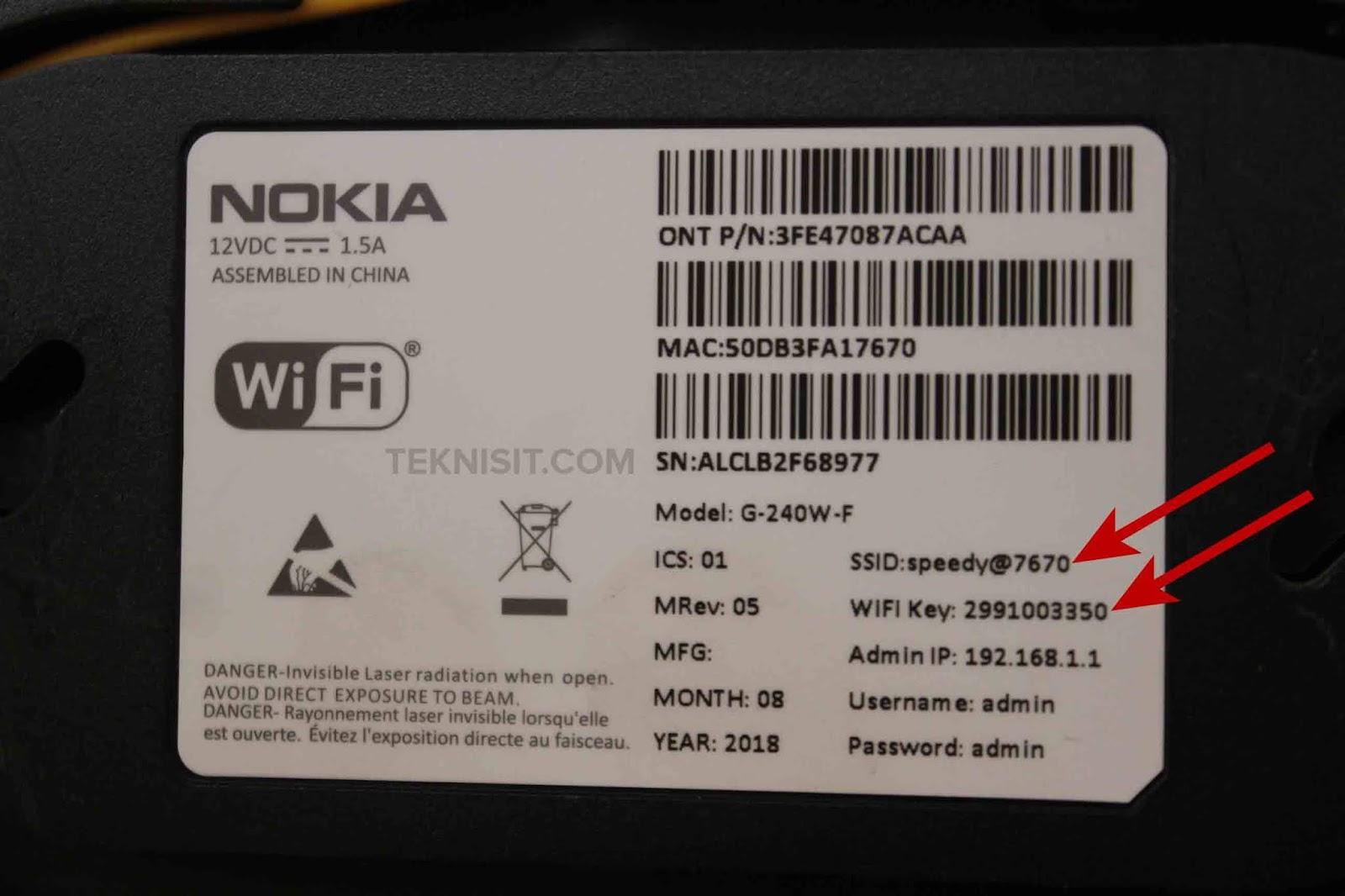 Cara reset WiFi IndiHome Nokia