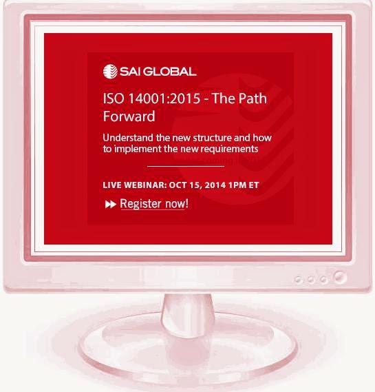 The GREEN MARKET ORACLE: Webinar - ISO 14001:2015 - The Path Forward