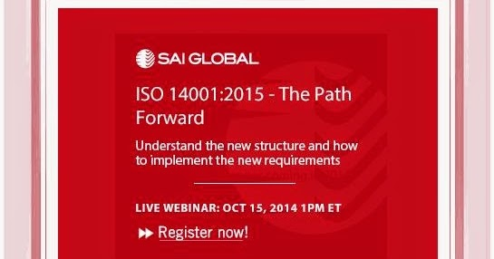 The GREEN MARKET ORACLE: Webinar - ISO 14001:2015 - The Path Forward