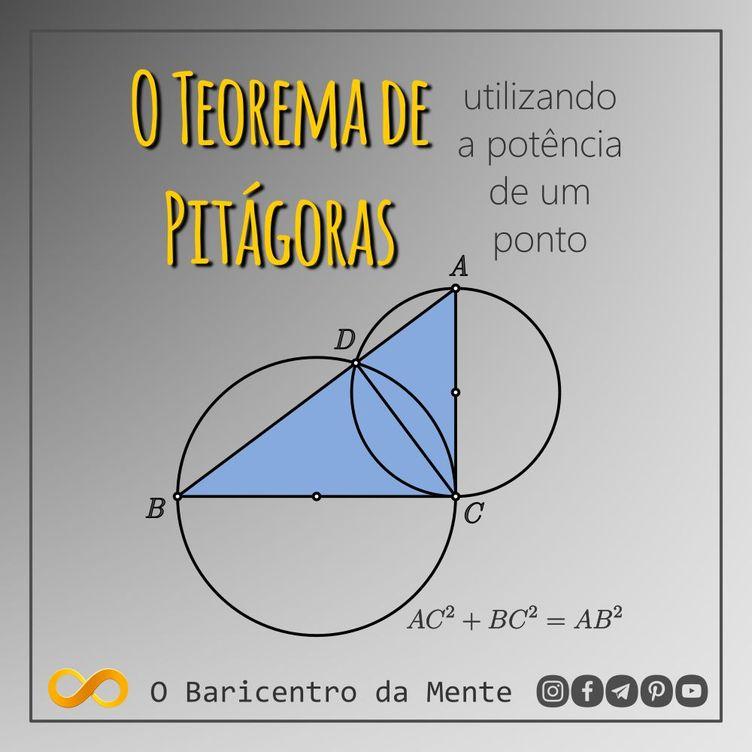 Prova do Teorema de Pitagoras utilizando a potencia de um ponto