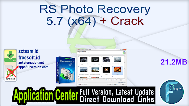 RS Photo Recovery 5.7 (x64) + Crack_ ZcTeam.id