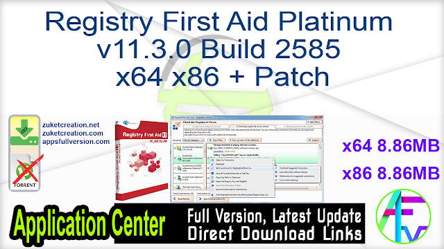Registry First Aid Platinum v11.3.0 Build 2585 x64 x86 + Patch