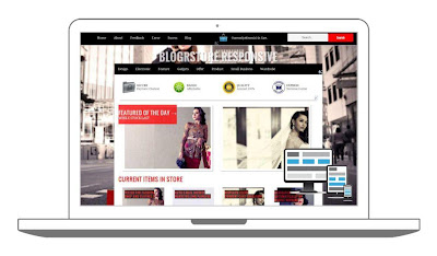 BlogrStore Responsive - Shopping Cart Blogger Template