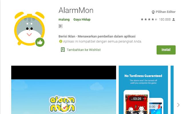 Aplikasi Alarm Terbaik AlarmMon