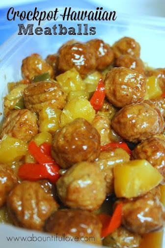 Hawaiian Meatball Crocpot recipe