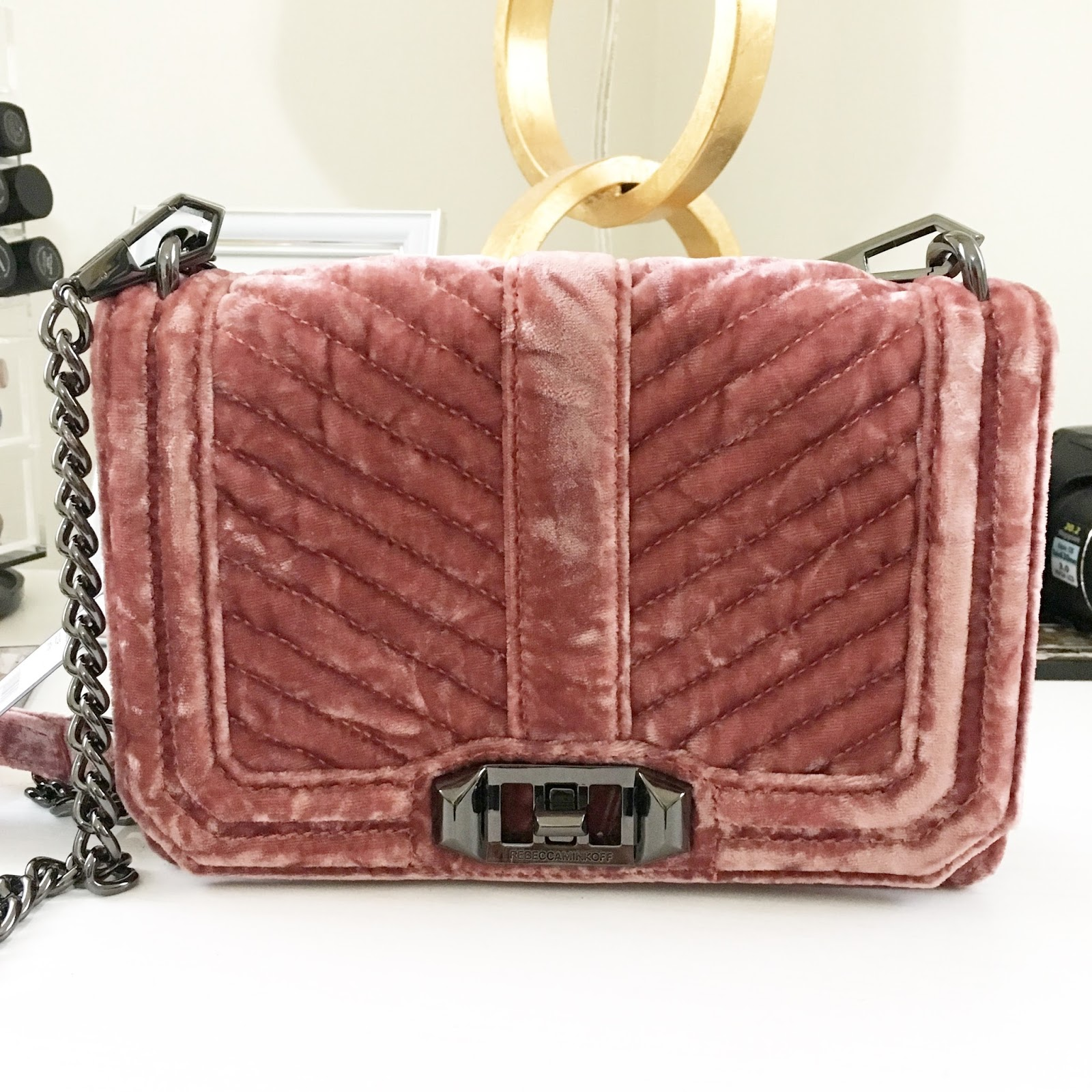Want And Purchased This Gorgeous Rebecca Minkoff Velvet Bag From The Nordstrom Anniversary I Ve Always Wanted One Of Her Love Bags Thought