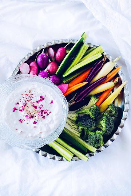 Persian Yogurt Dip with Crudités