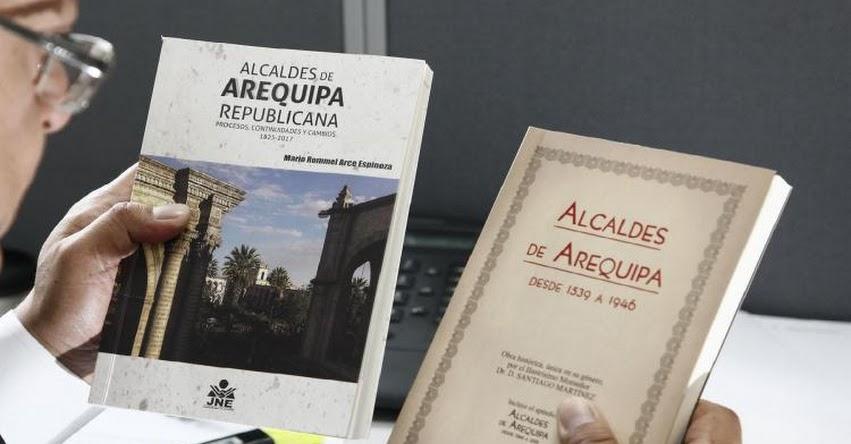 JNE presentará libros sobre historia política y democrática de Arequipa - www.jne.gob.pe