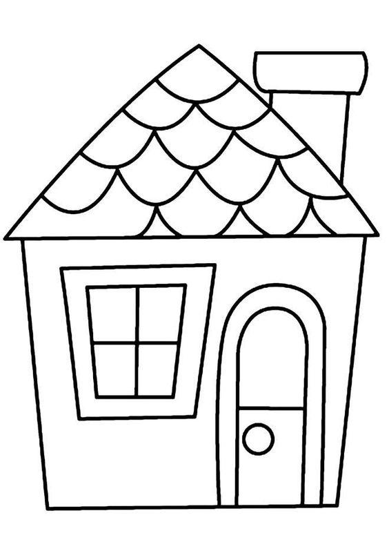 Tranh tô màu ngôi nhà cho bé mầm non 7
