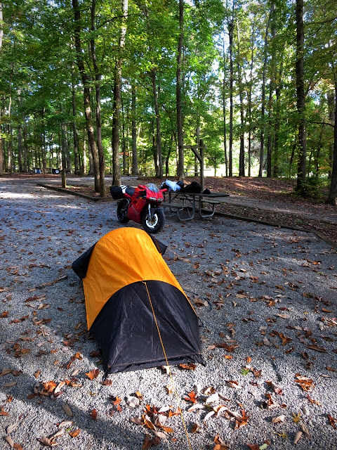 Camping in Claytor Lake Virginia.