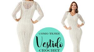 Vestido Largo Crochet / Patrones