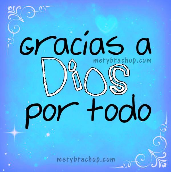 gracias por todo a Dios imagen cristiana