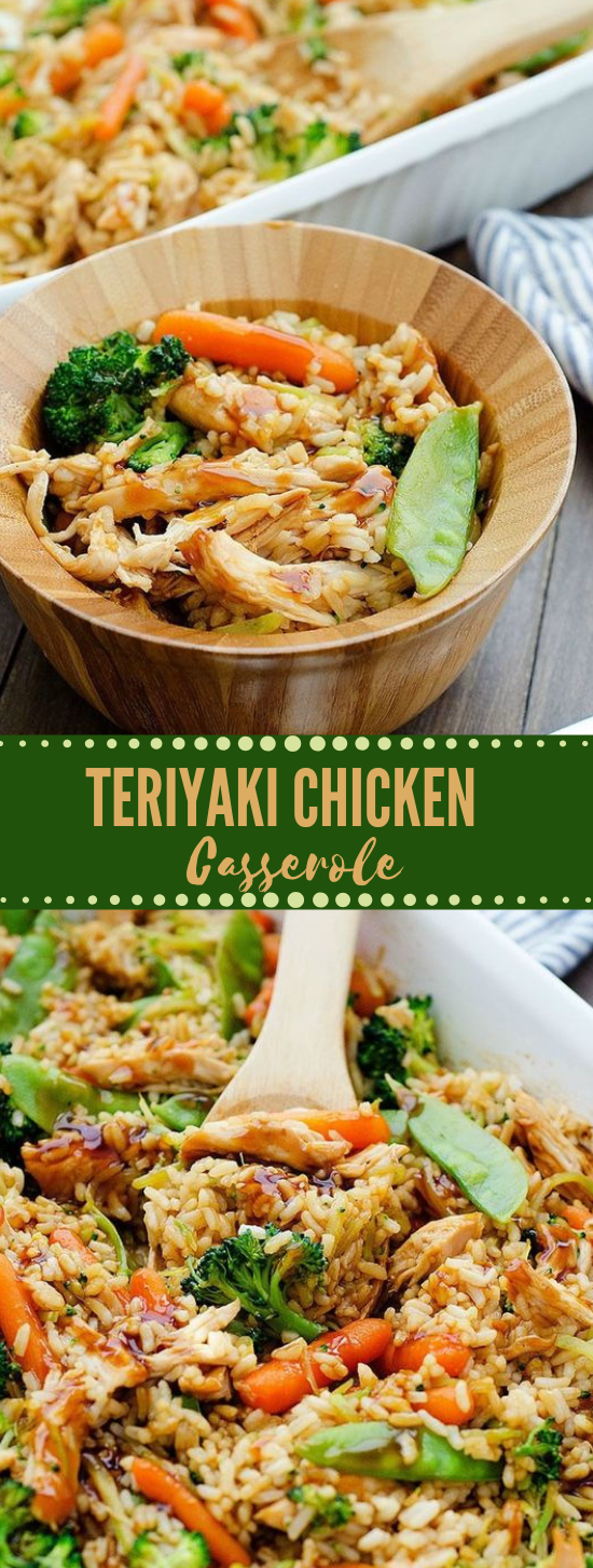 Teriyaki Chicken Casserole #dinner #chicken #healthyrecipes #familydinner #easy