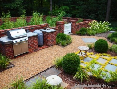 dapur menyatu dengan taman belakang