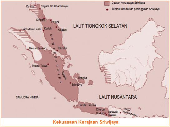 Kekuasaan Kerajaan Sriwijaya - Letak, Prasasti, dan Puncak Kejayaan Kerajaan Srwiijaya - Faktor-Faktor Perkembangan dan Kemunduran/Keruntuhan Kerajaan Sriwijaya