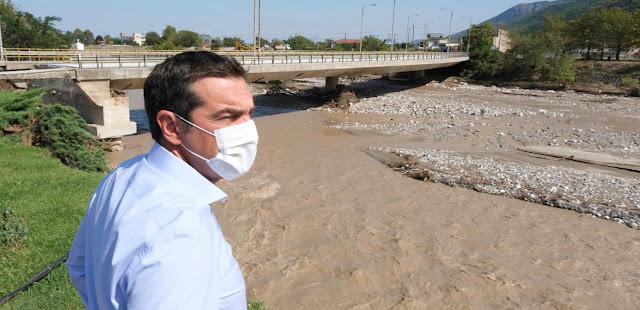 Τσίπρας / Εικόνα ολικής καταστροφής στην Καρδίτσα, μέτρα «ασπιρίνες» από την κυβέρνηση – VIDEO