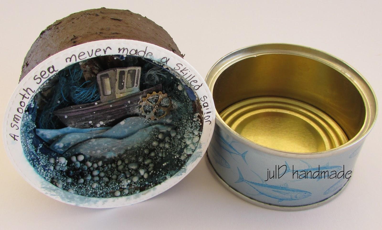 juld handmade α tiny tuna tin full of sea