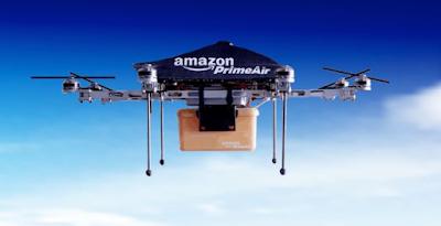 drone amazon, kurir pengiriman barang melalui drone cepat dan mudah