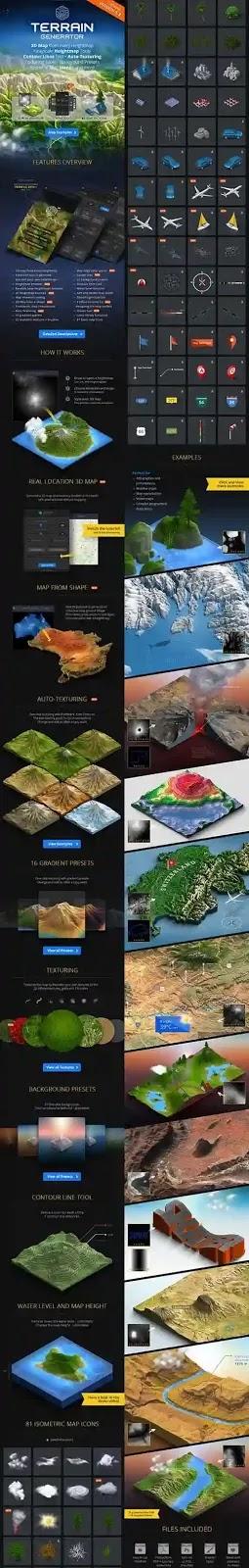 3D Map Generator Terrain From Heightmap